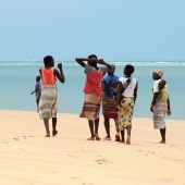 walking-on-bararuto-island-mozambique
