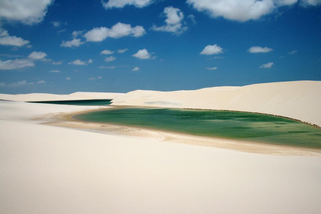 Lencois Marhenses National Park in Brazil.