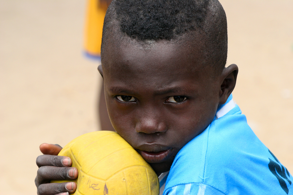 Dreaming of becoming a soccer star in Dakar, Senegal.