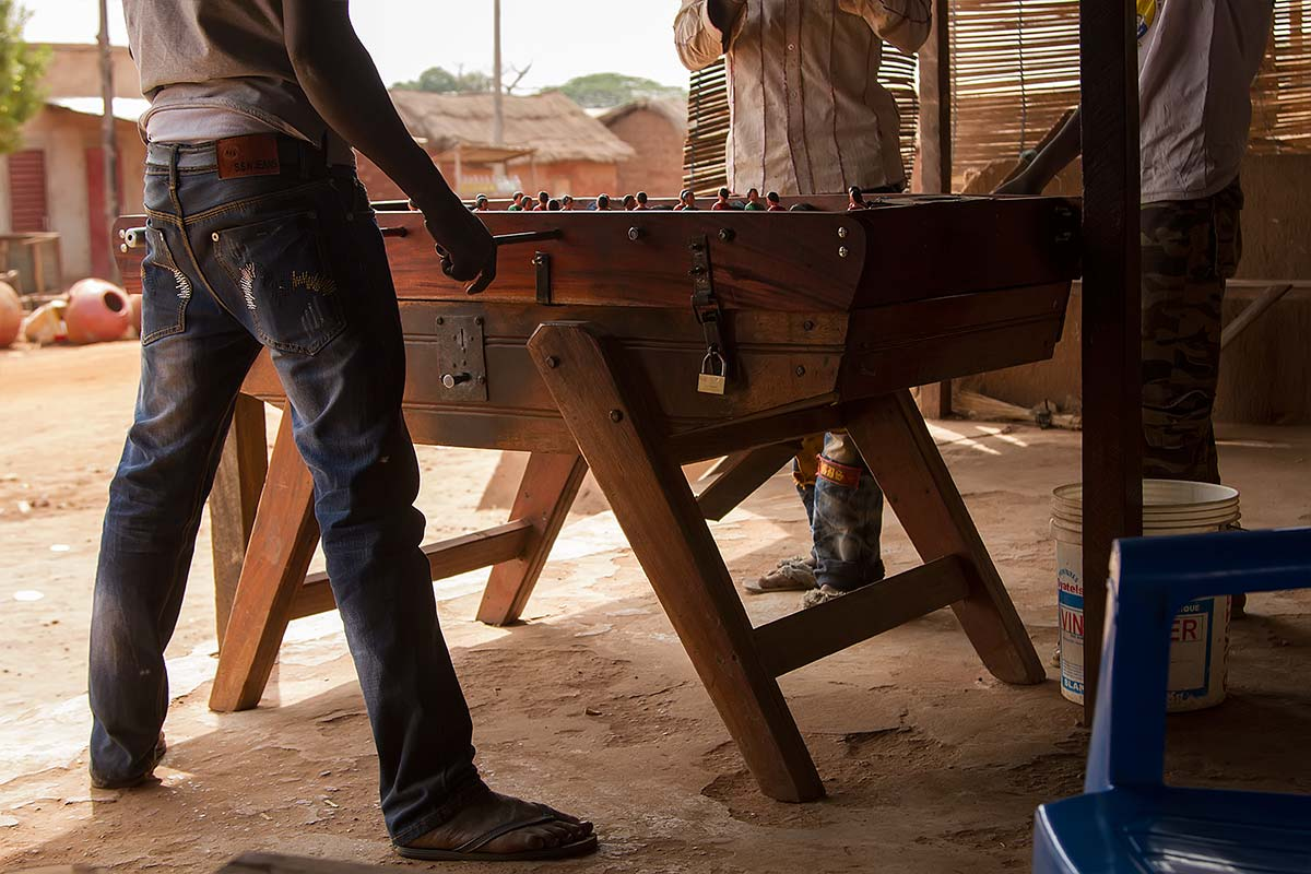 Table football is a very popular extracurricular activity in Burkina Faso.