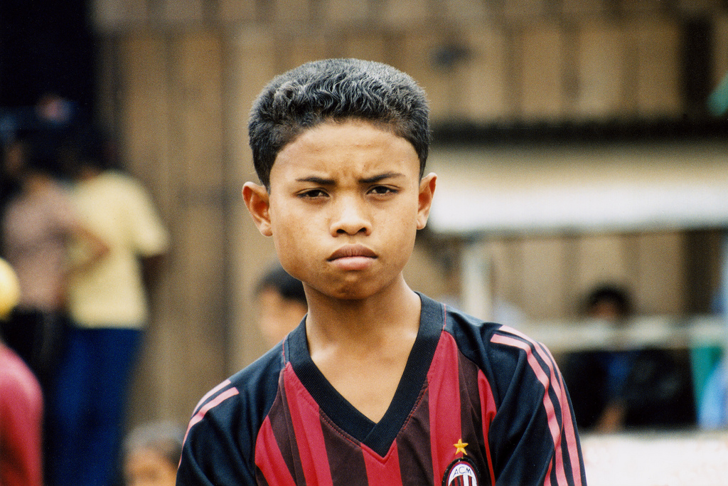 AC Milan boy in Sumatra, Indonesia.