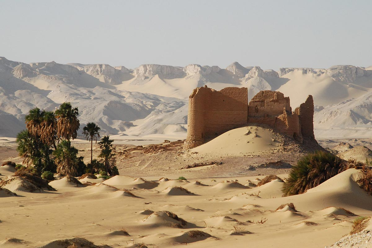 Kharga Oasis is the southernmost of Egypt's five western oases. It is located in the Libyan Desert, about 200 km to the west of the Nile valley.