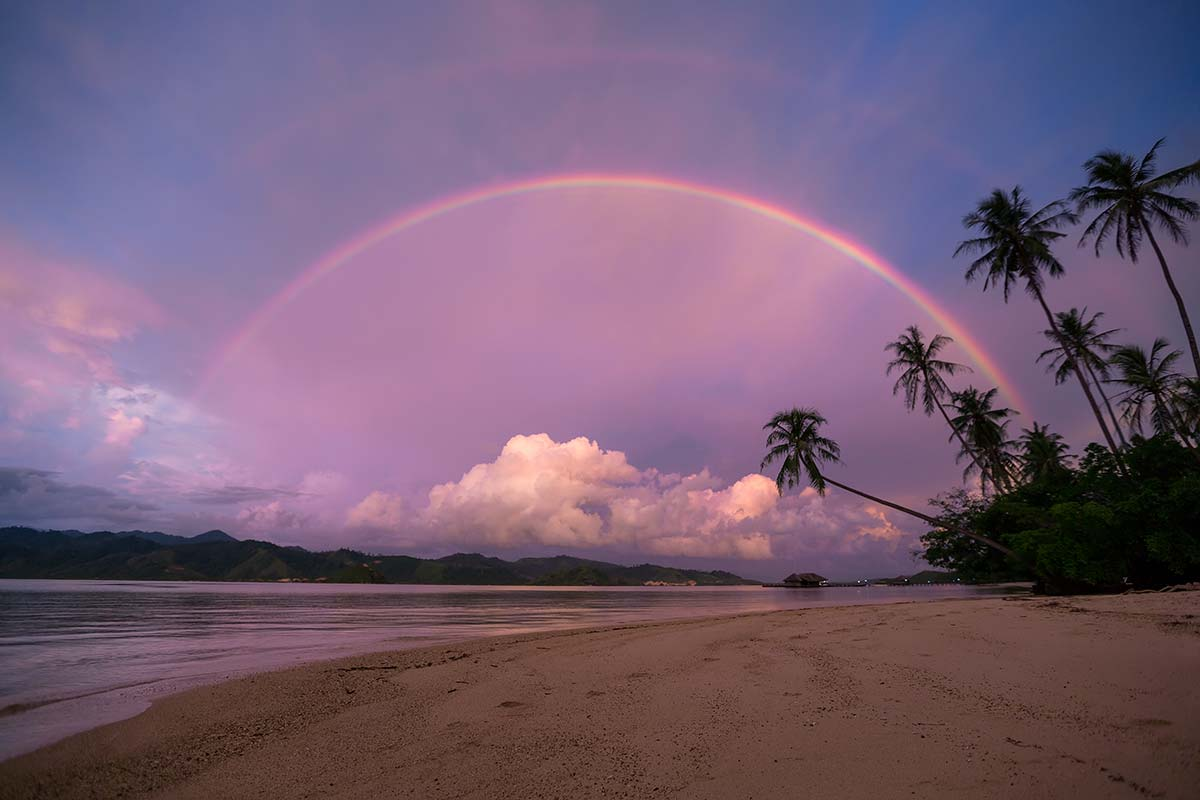Double rainbows are nothing out of the ordinary in West Sumatra.