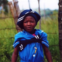 Boy in school uniform in South Africa.