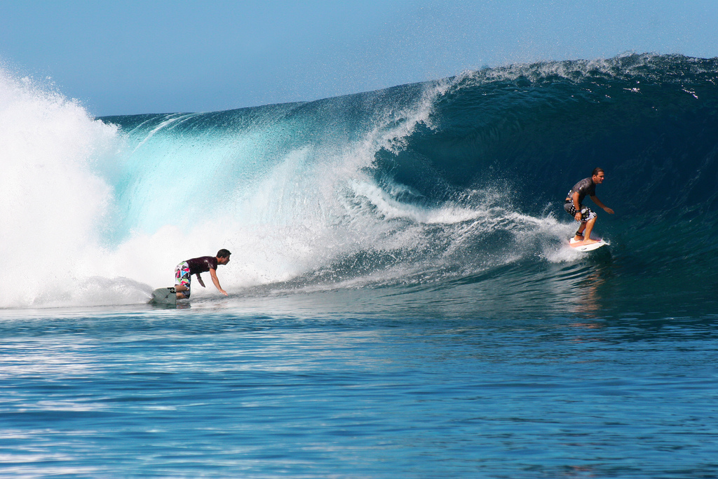 Teahupoo is also renowned for the consistent number of barrels it delivers. It is a rewarding location and is widely regarded as being on the 'must-surf' list of every enthusiastic surfer.