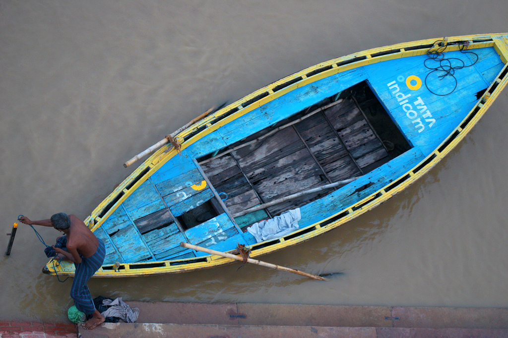 If you take a seat on the Ghats in Varanasi, you get to see all kinds of beautiful settings to photograph.