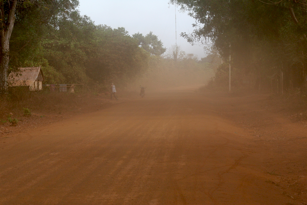 Seeing something gets pretty hard on these dusty roads up North in Cambodia.