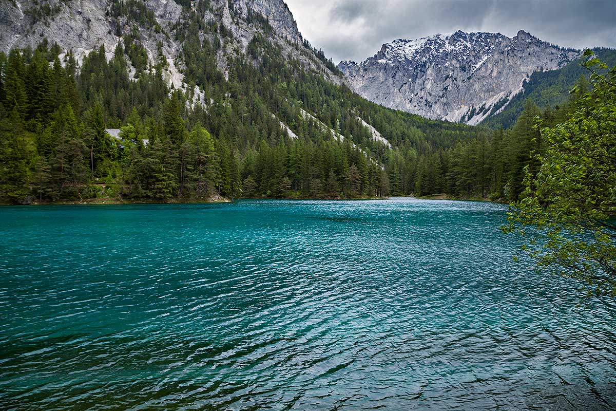 The Green Lake (German: Grüner See) is located in Syria and is surrounded by the Hochschwab mountains and forests. The name comes from its emerald-green water. The clean and clear water comes from the snowmelt from the karst mountains. In recent year the lake has become a popular place for tourists and divers.