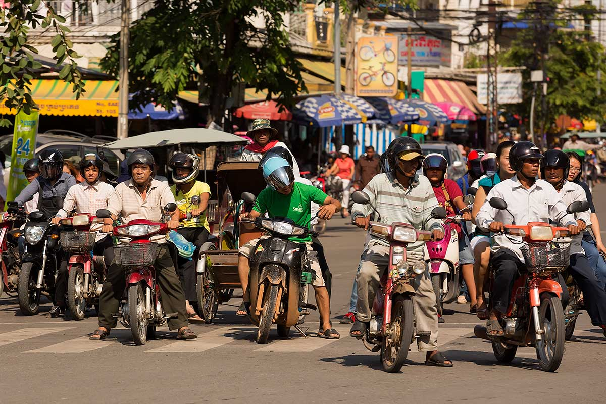 It seems like there are as many motorbikes in Phnom Penh as people who live there.