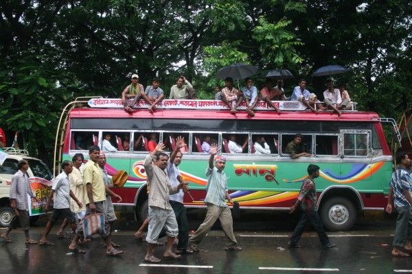 Public transport in Kolkata, India.