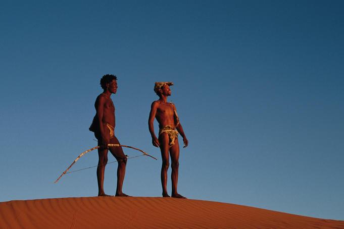San hunters in the Kalahari desert. Photo credit © Ariadne Van Zandbergen.