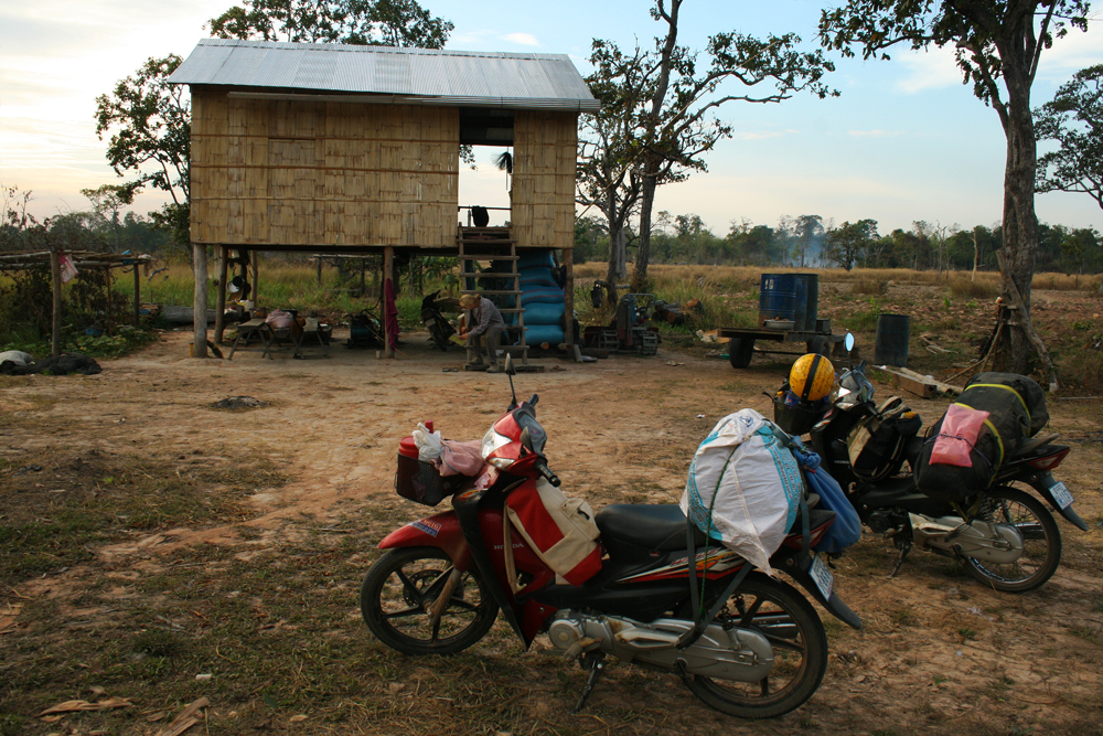One of our sleeping locations during our motorbiking trip through Cambodia.