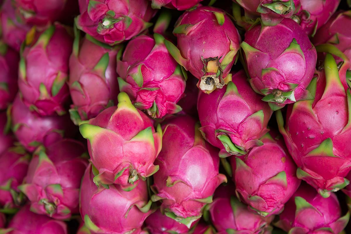 A visit to a fruit market with dragon fruits, mangoes, melons, pineapples and star fruit piled up agains each other is a definite must. In Bangkok there is no better example of such a place than the Saphan Khao Fruit Market.