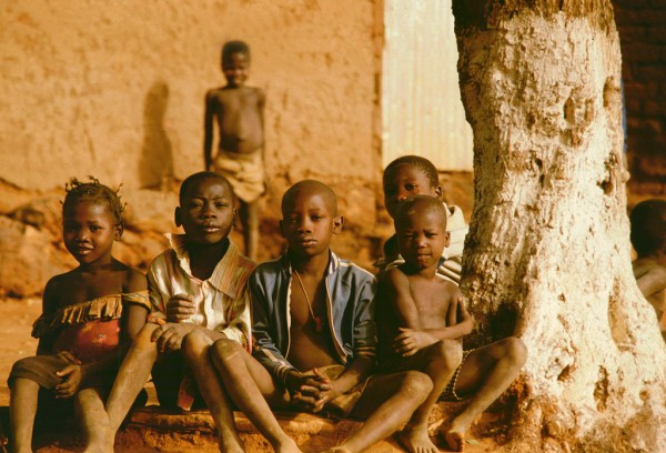 A bunch of kids in Ruwanda.
