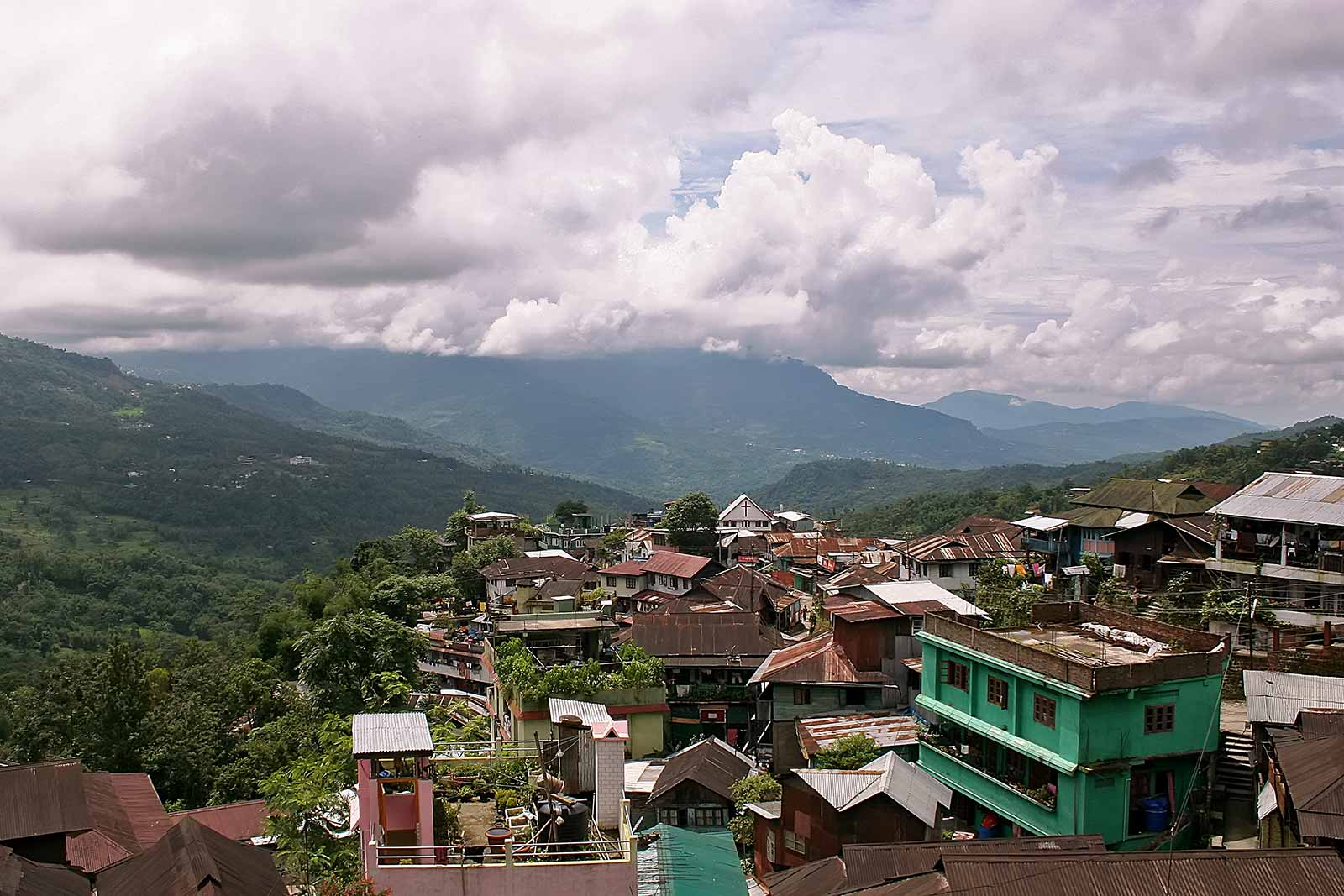 The view of Kohima in Nagaland.
