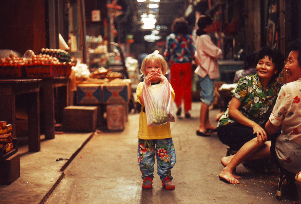 Exploring the wet market in Singapore.