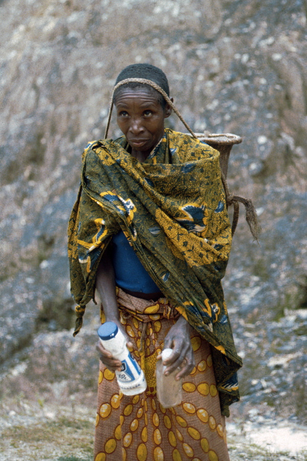 A Pygmee woman in the Congo forest.