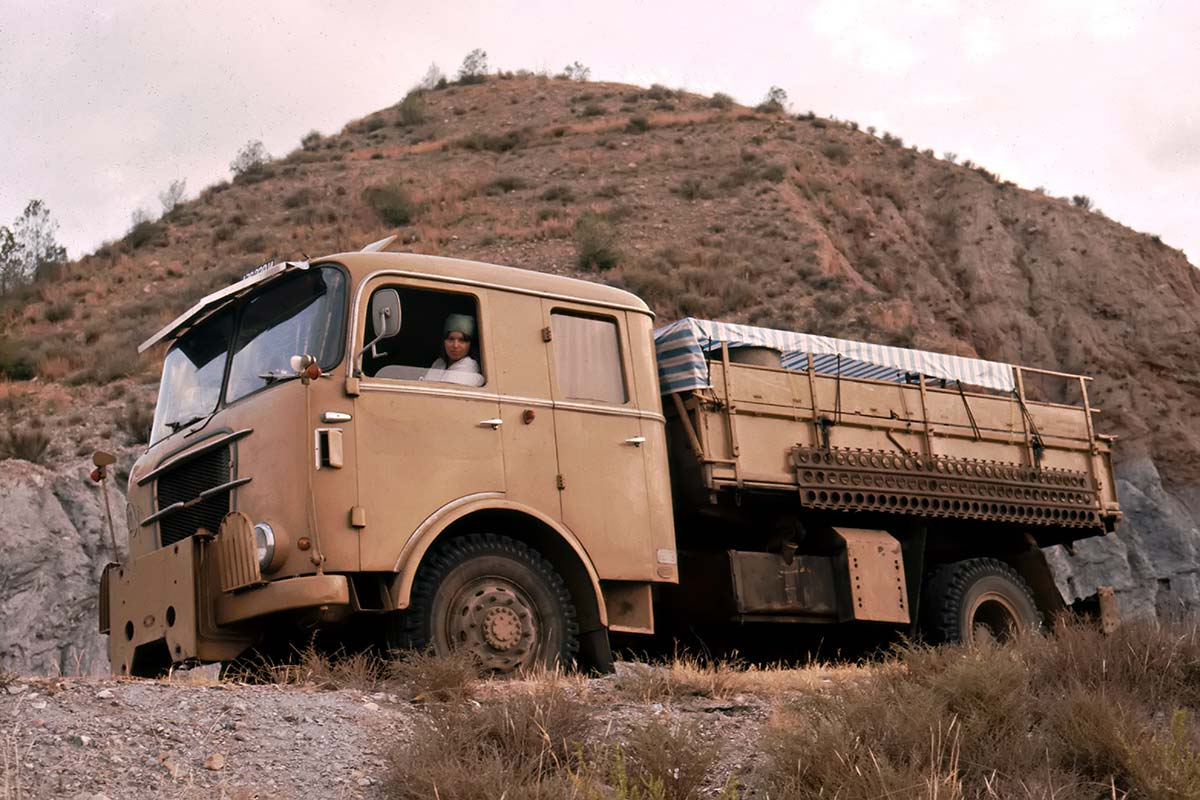 On our first journey through Africa, we went with an old Graef & Stift truck.
