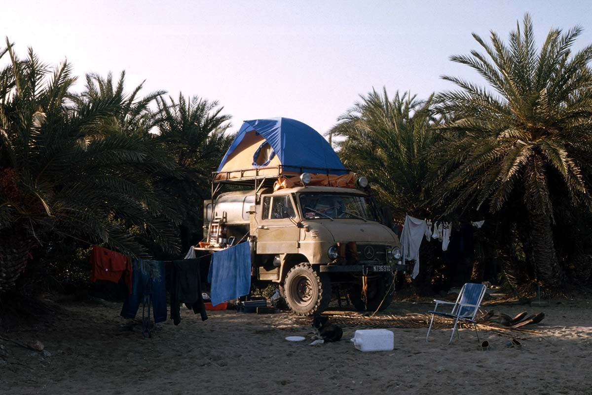 Our companion while travelling through Africa was an Unimog truck.