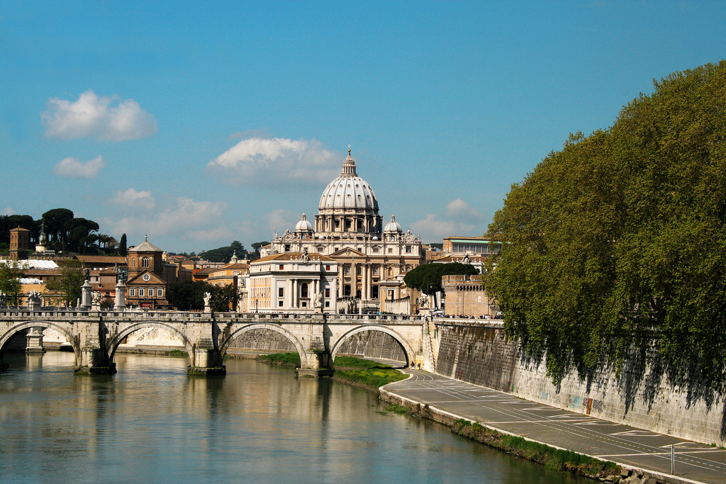 St Peters's Basilica St. Peter's is the world-famous a church located in the Vatican City west of the River Tiber.