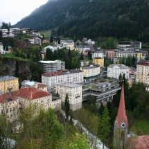 The center of Bad Gastein in Salzburg.