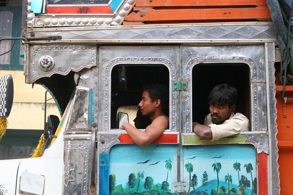 Bus driver in Kohima, India.