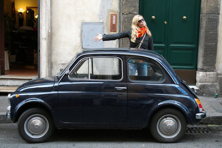 Old school Fiat's 500 aka Cinquecento's can be found all around the city and are perfect for all the little side streets in Rome.