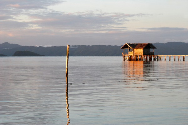 The resort on Pulau Kri in Raja Ampat.