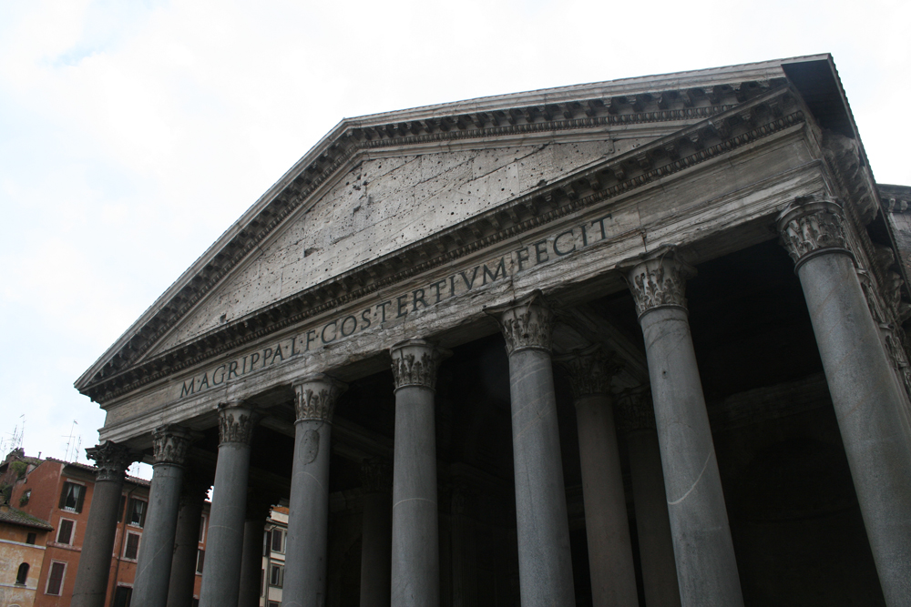 The Pantheon in Rome is one of the best-preserved of all Ancient Roman buildings.