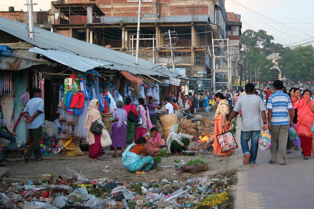Street market in Imphal.