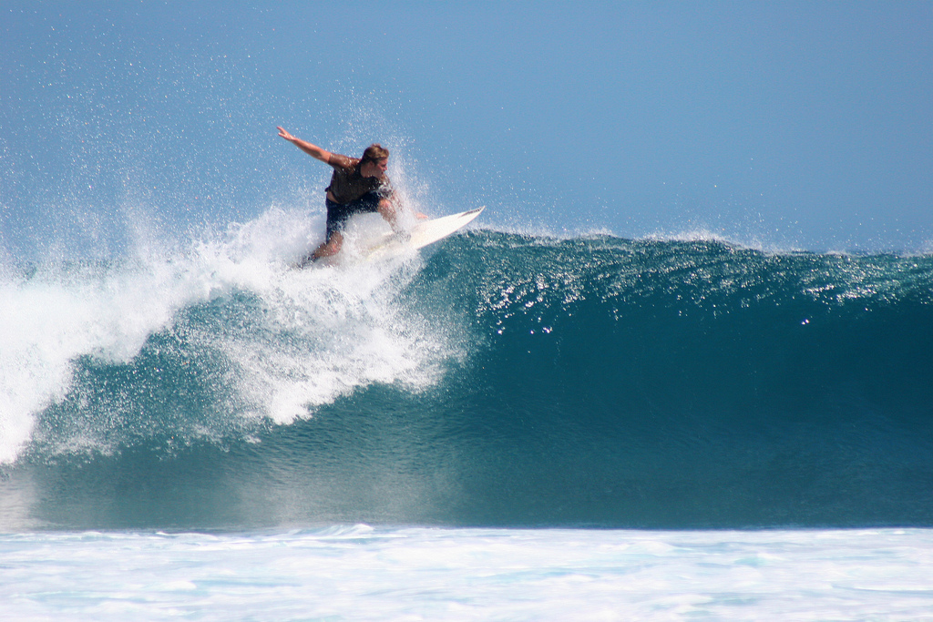 Surfing in Indonesia is heaps of fun.