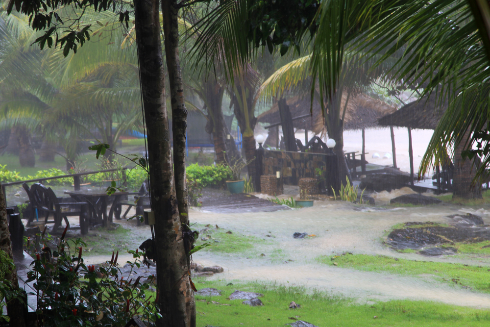Our entire resort was under water from the heavy rain.