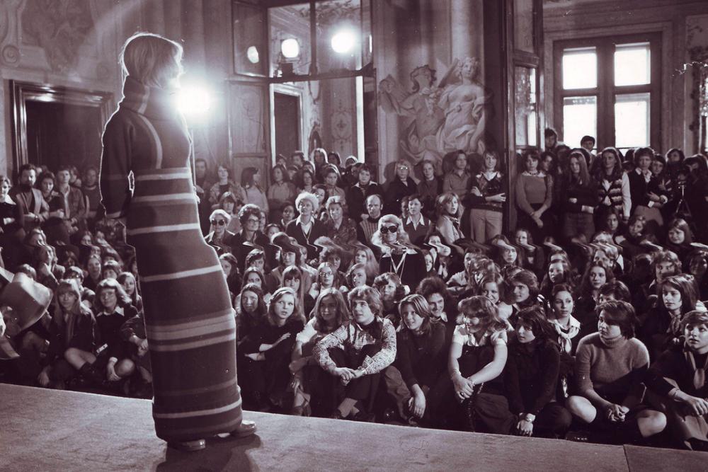 At fashion school in Vienna.