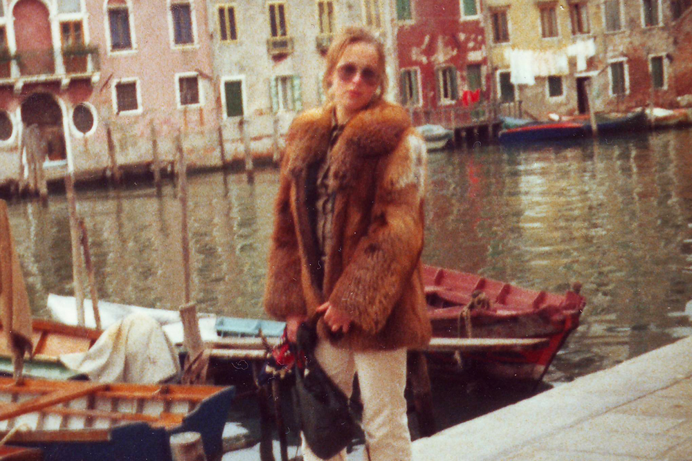 Travelling in the 70s (this was in Venice, Italy).