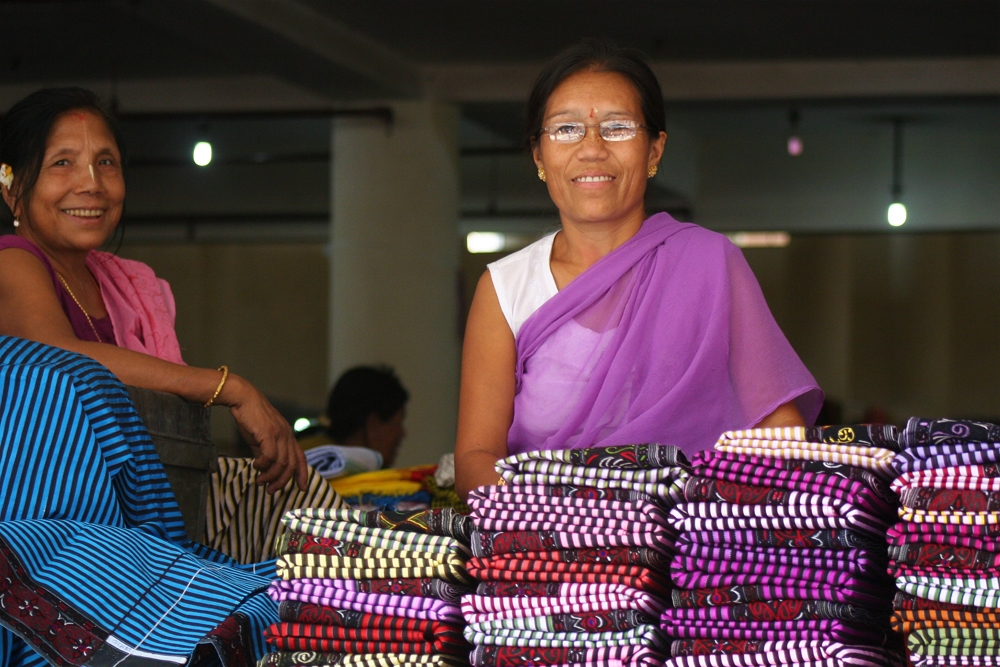 "Women are the ""rulers"" of the markets in Imphal."