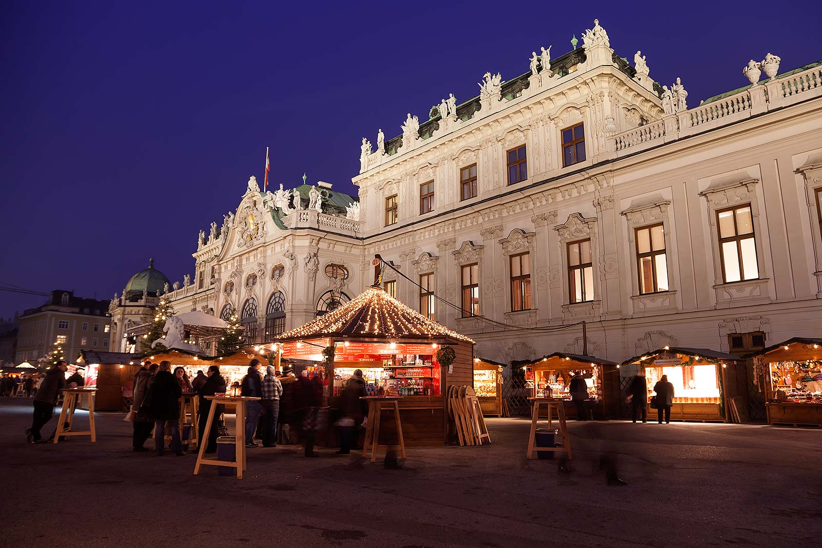 the chtistmas market is on the backside of the belvedere - Vienna Christmas Market
