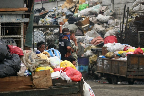 Garbage piles up everywhere in Manila.