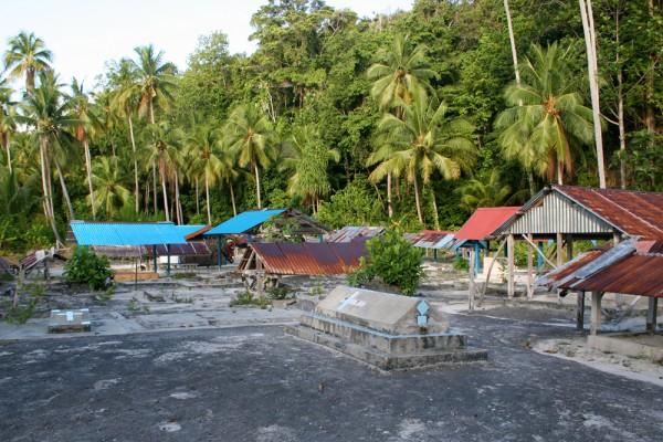 A typical graveyard in Raja Ampat.