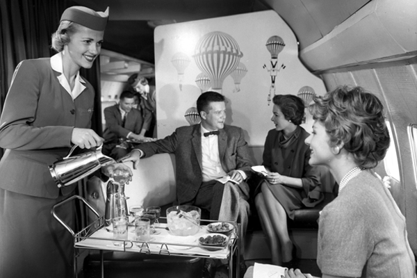 Pure luxury inside the Pan Am planes.