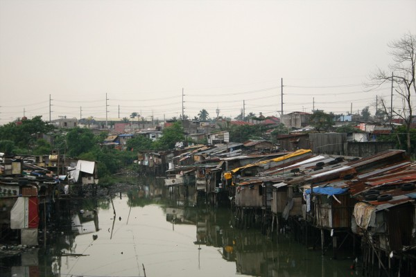 Slums in Manila.
