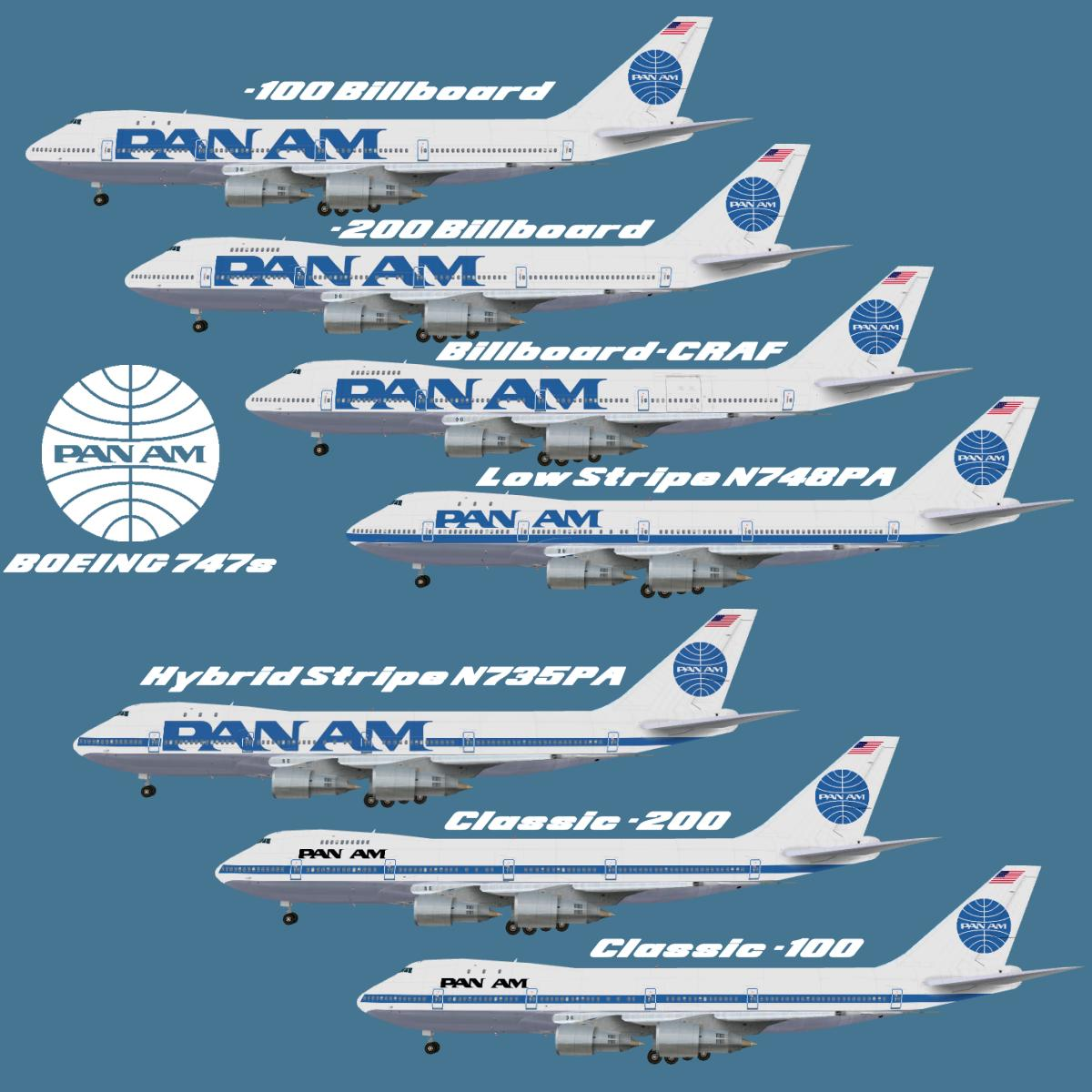 Pan Am's Boeing 746 fleet.