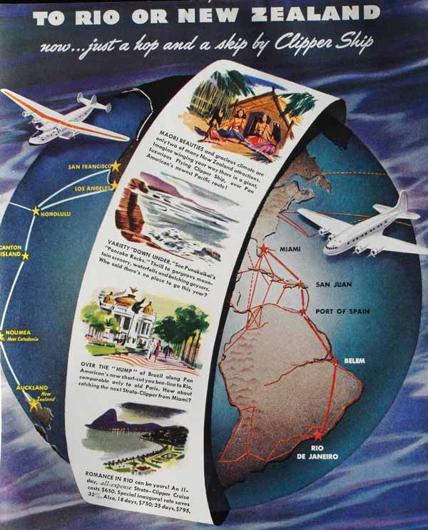 Pan Am's clipper destinations.