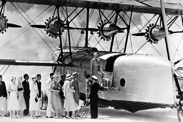 One of the first Pan Am planes.