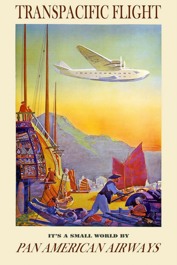 Retro Pan Am poster.
