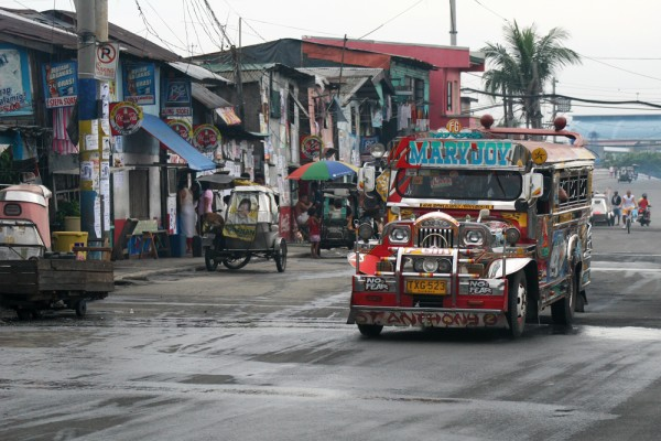Transportation in Manila.