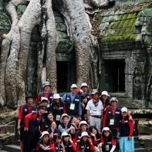 Japanese tourists at Angkor Wat in 2010.