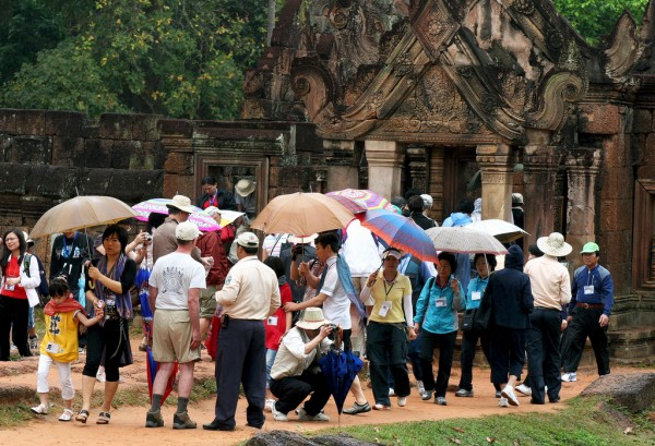 Tousands of tourist visit Angkor Wat each year.