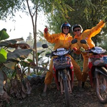 Motorbiking through Laos.