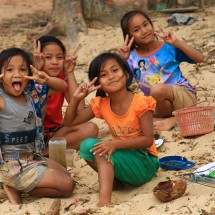 Happy kids in Laos.