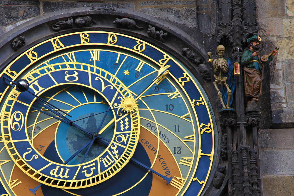 The Astronomical Clock in Prague is a medieval astronomical clock. The clock was first installed in 1410, making it the third-oldest astronomical clock in the world and the oldest one still working.